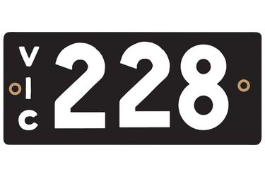 Victorian Heritage Numerical Number Plate - 228