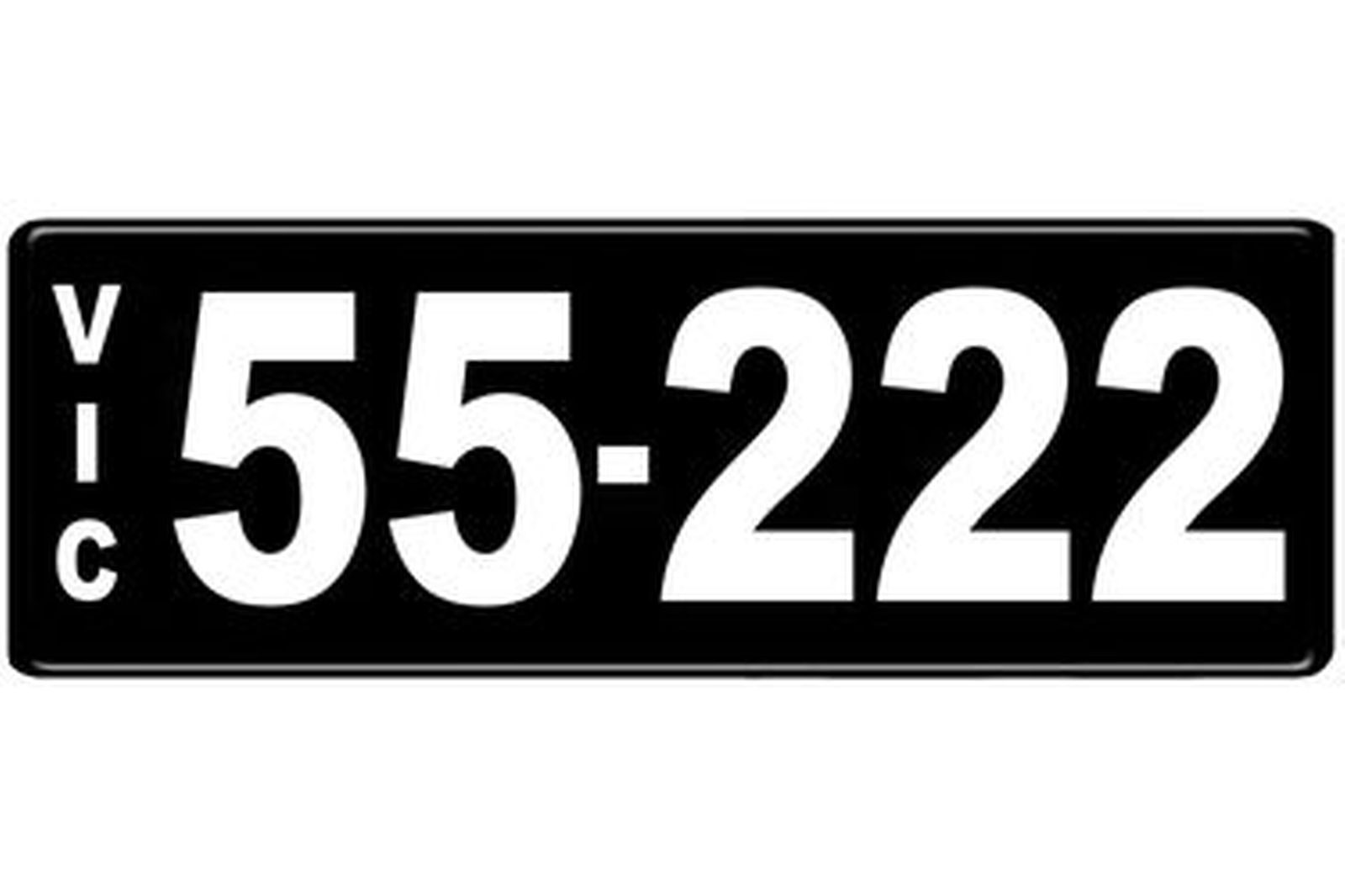 Number Plates - Victorian Numerical Number Plates - 55.222