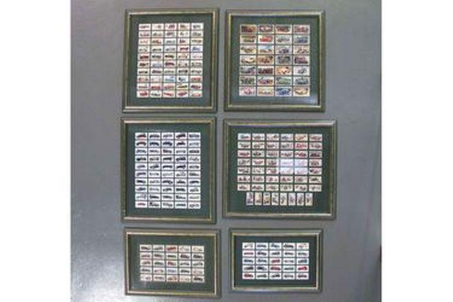 Framed (Motoring) Cigarette Card Collection x 6