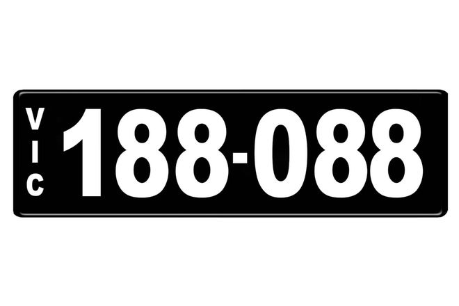 Number Plate - Victorian Numerical Number Plate - 188.088