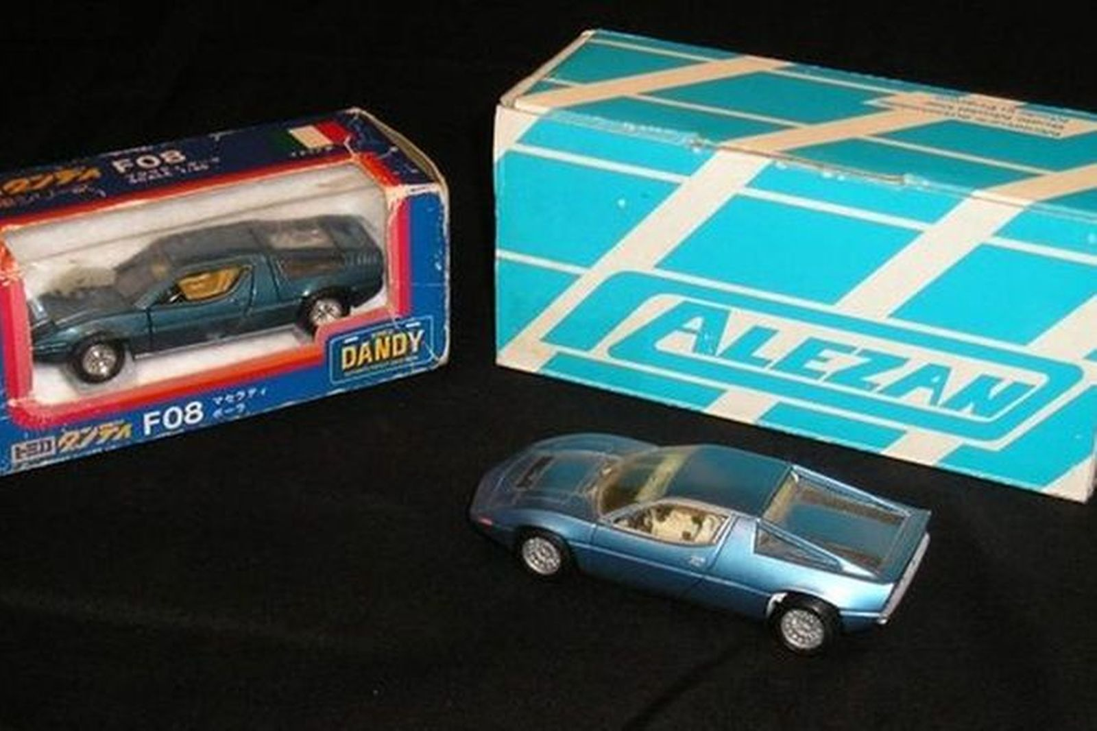 2 x Maserati Models (Merak SS by Alezan, Bora by Tomica Dandy)