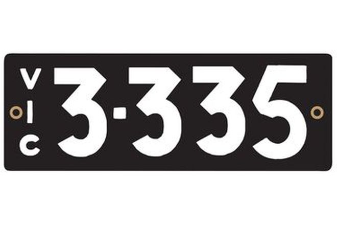 Victorian Numerical Number Plates '3.335'