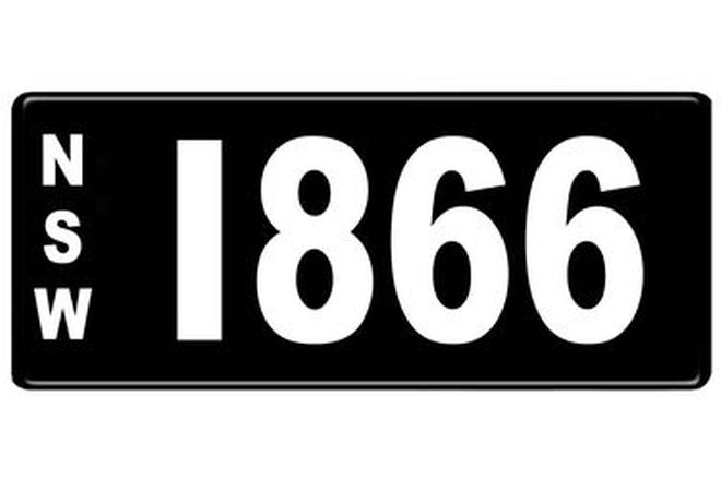Number Plates - NSW Numerical Number Plates '1866'