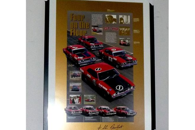 Framed Signed Poster - Four on the Floor featuring the GT-HOs Phase 1 to 4 signed by Alan Moffat