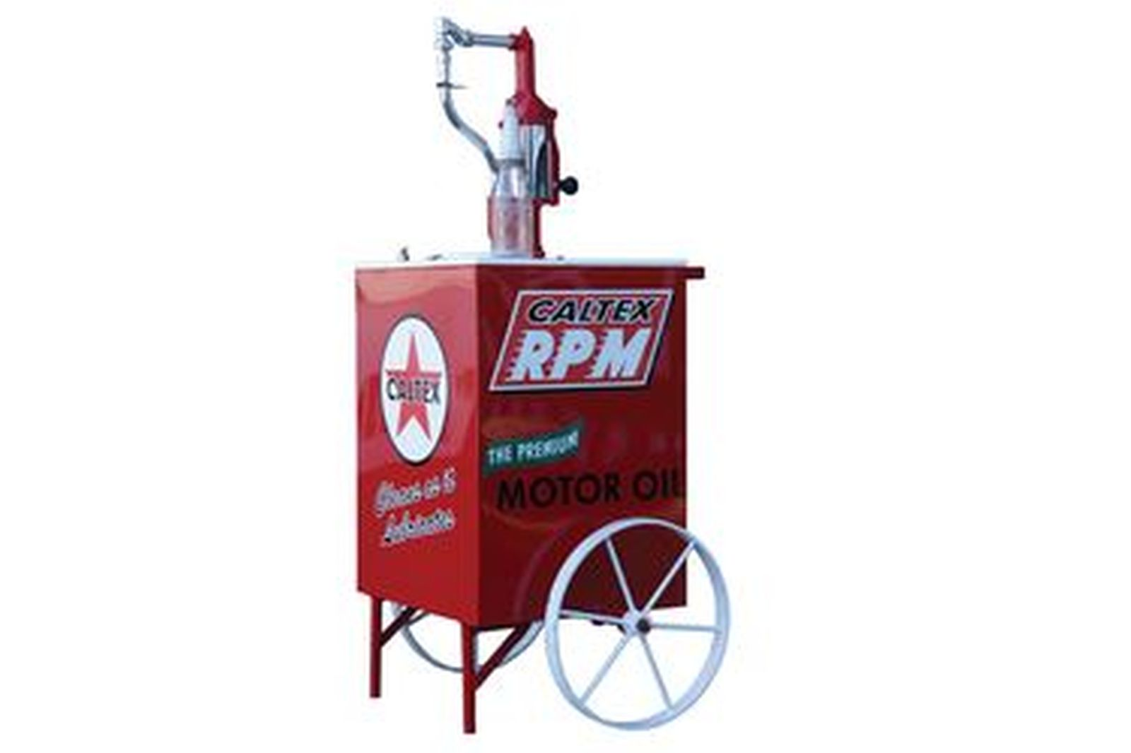 Sold: Tall Boy - Mobile Oil Tall Boy in Caltex Livery with pump and