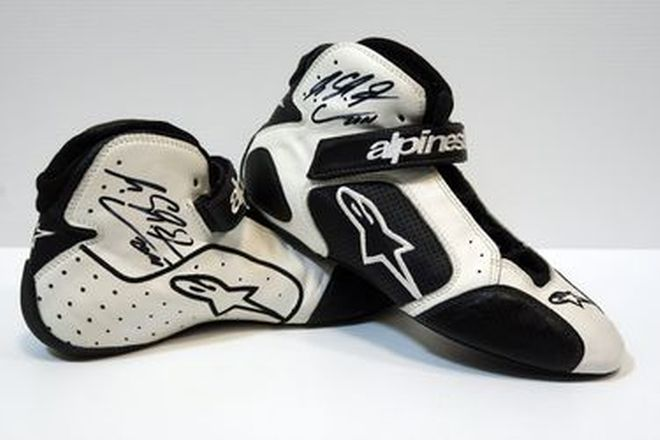 Race Boots - Michael Schumacher's Alpinestar Boots from the 2010 F1 season