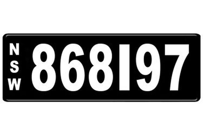 Number Plates - NSW Numerical Number Plates '868197'
