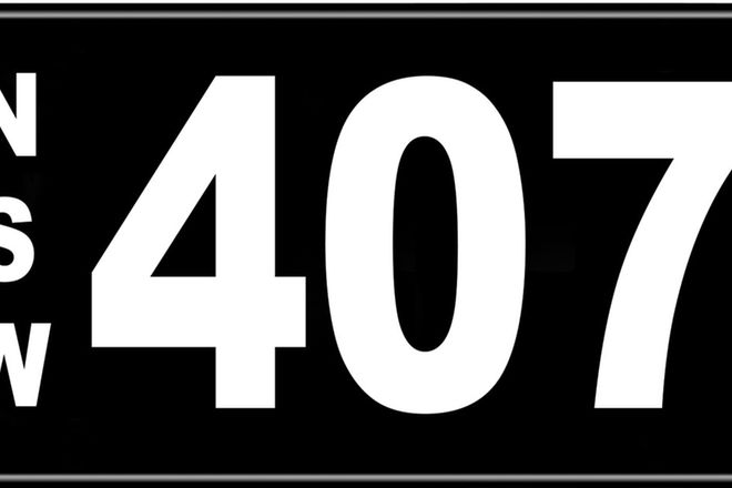 Number Plates - NSW Numerical Number Plates '407'