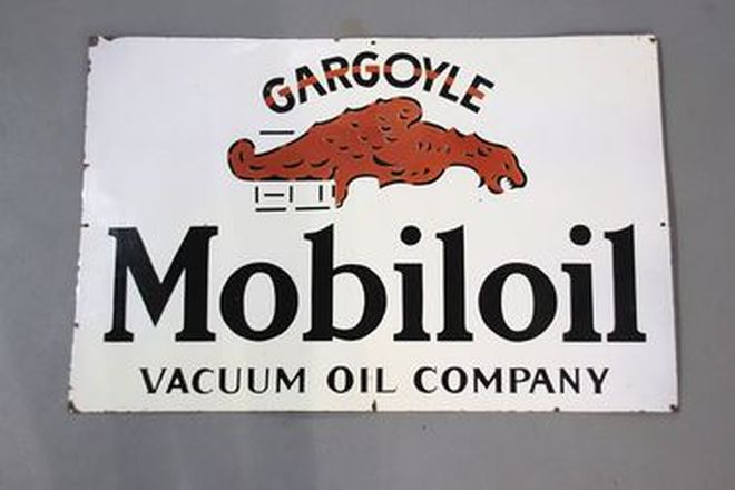 Enamel Sign - Mobil Oil (91 x 60cm)
