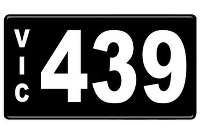 Number Plates - Victorian Numerical Number Plates - 439