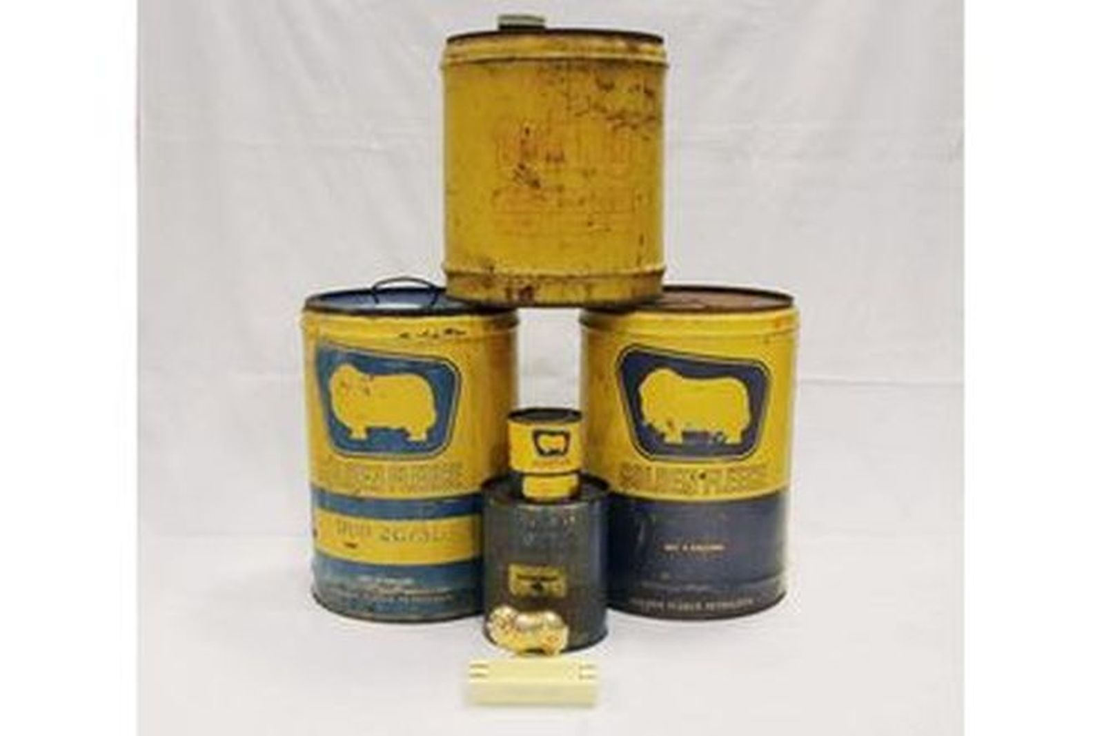 5 x Golden Fleece Oil Tins & Ashtray