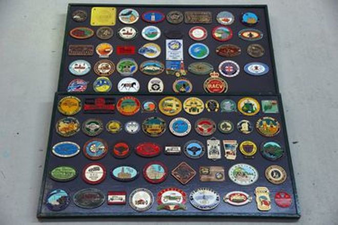 Car Badge Display Boards x 2 (85 Badges in total)
