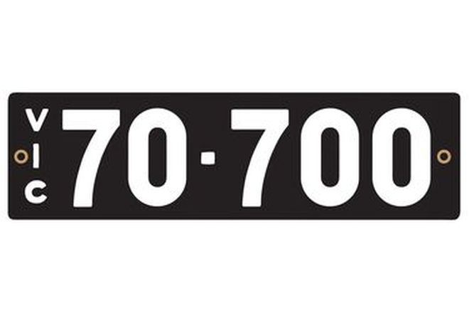 Victorian Heritage Numerical Number Plates - '70.700'