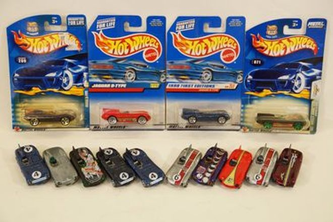 Model Cars x 14 - Hot Wheels diecast various D-Types - 4 in original packaging (1:43 scale)