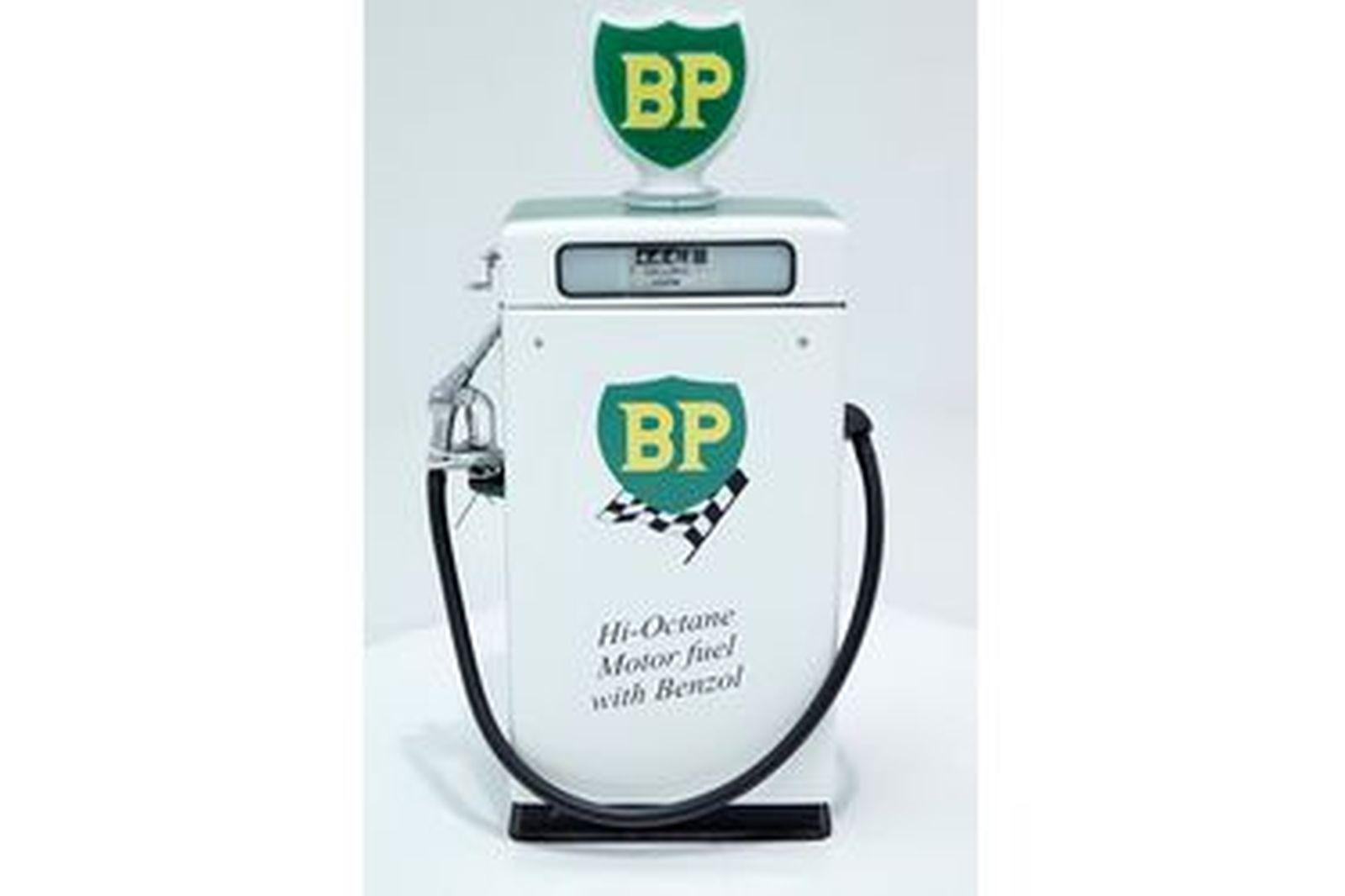 Petrol Pump - Wayne 605 Industrial in BP Racing Livery with Reproduction Globe (Restored)