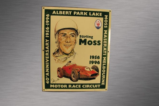 Enamel Sign - Stirling Moss at Albert Park Lake 40th Anniversary(No.21/100)