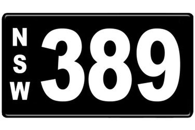 Number Plates - NSW Numerical Number Plates '389'