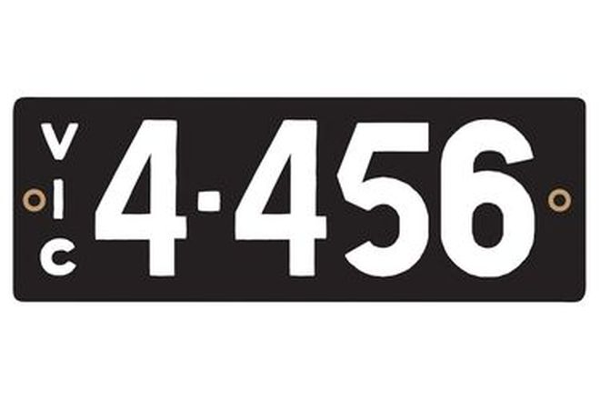 Victorian Heritage Numerical Number Plates '4.456'