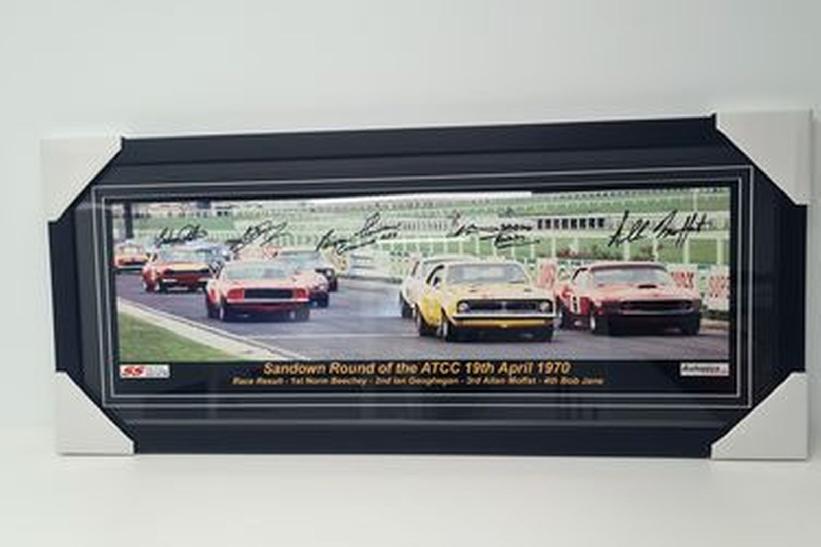The Start of the Sandown round of the Australian Touring Car Championship. April 1970 Framed Photo