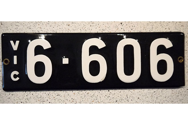 Number Plates - Victorian Numerical Number Plate '6.606'