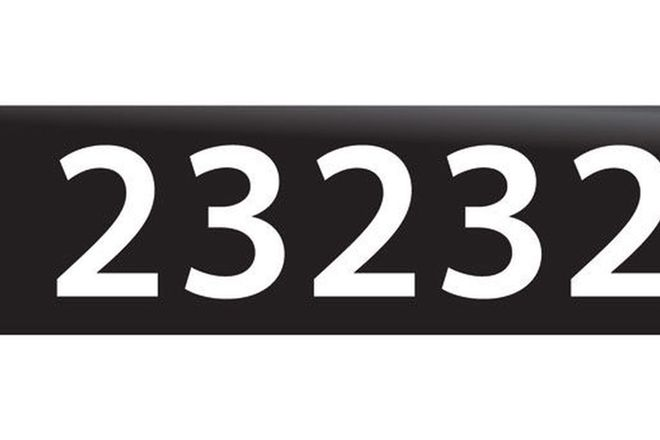 RTA NSW Numerical Number Plates '23232'