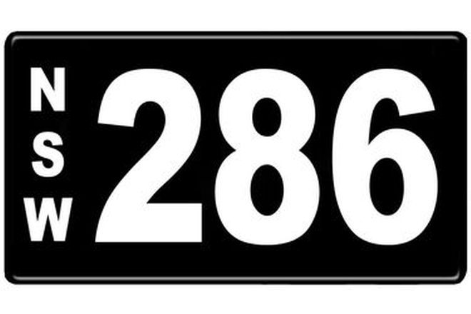 Number Plates - NSW Numerical Number Plates '286'