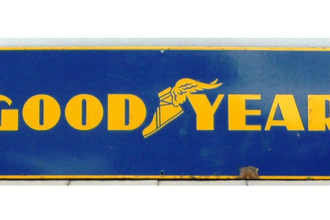 Enamel Sign - Goodyear Tyre Sign (90cm x 30cm)
