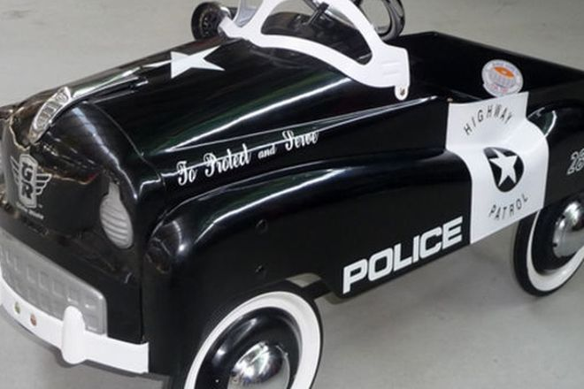 Pedal Car - Police Highway Patrol by Burns Novelty & Toys (90cm)