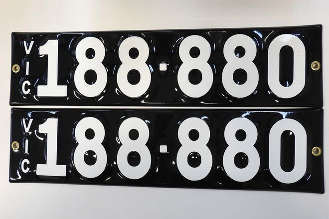 Number Plates - Victorian Numerical Number Plates - '188-880'