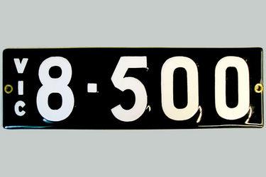 Victorian Vitreous Enamel Number Plates '8.500'