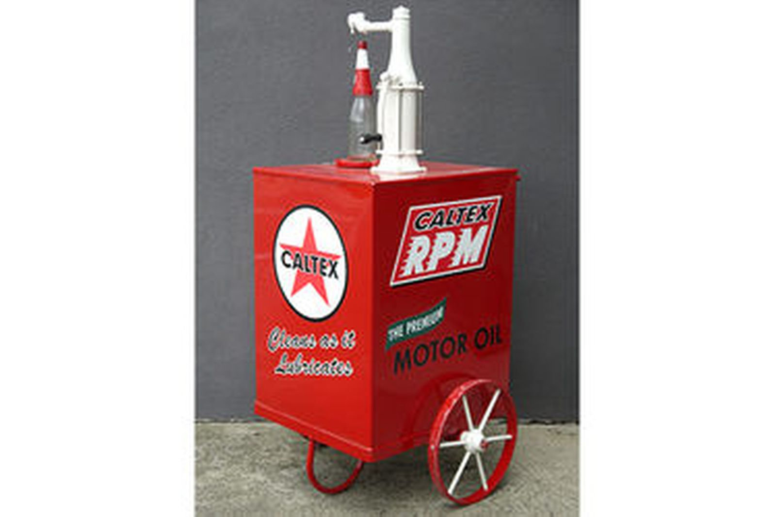 Sold Oil Cart Oil Pump In Caltex Livery With Imperial Quart