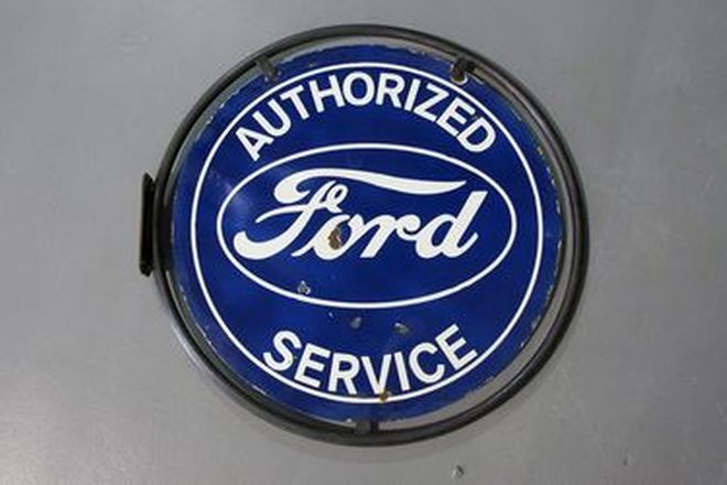 Enamel Sign - Ford Round (60cm diameter)