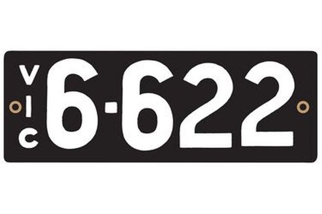 Victorian Numerical Number Plates '6.622'