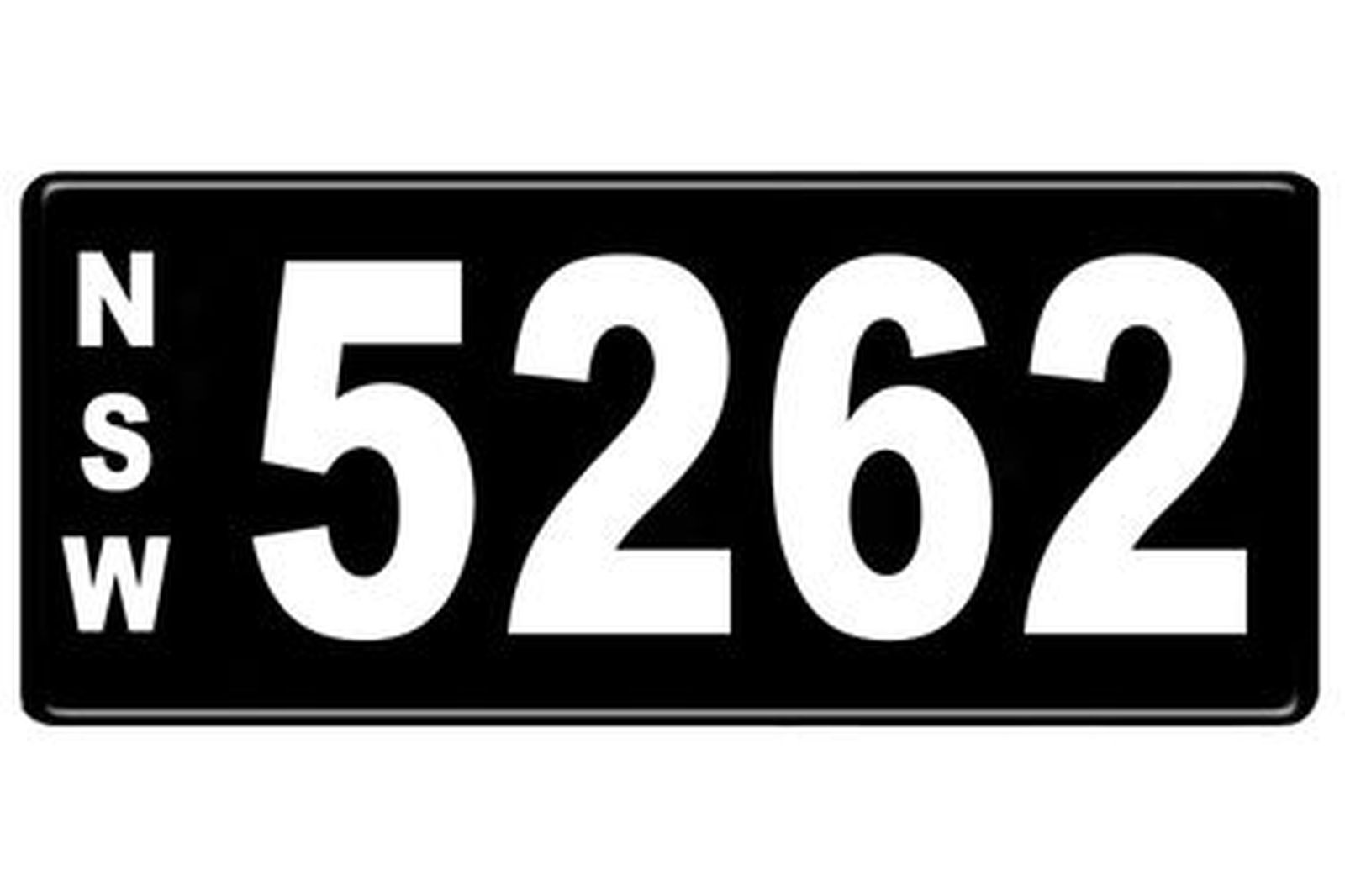 Number Plates - NSW Numerical Number Plates '5262'