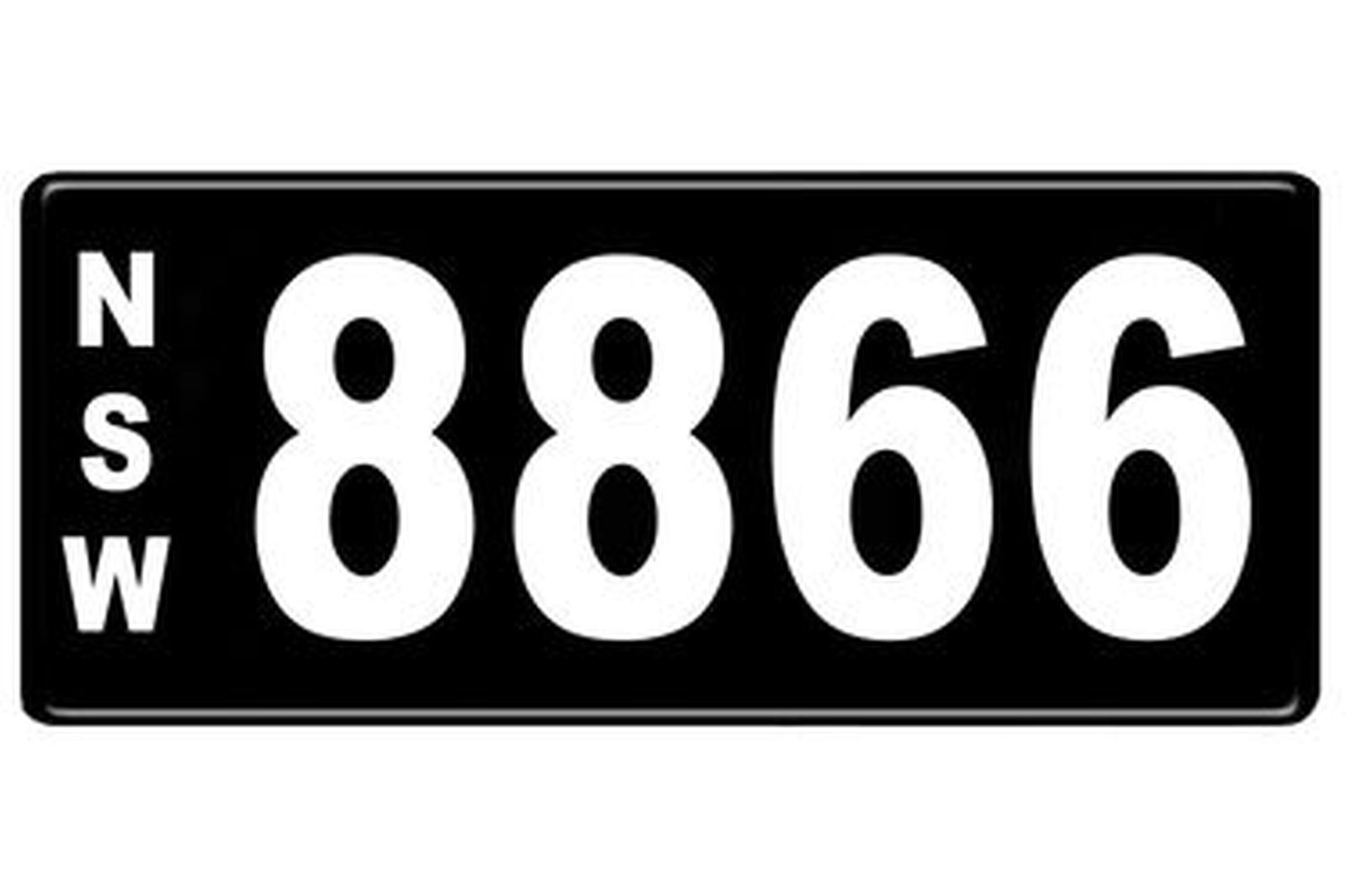 Number Plates - NSW Numerical Number Plates '8866'
