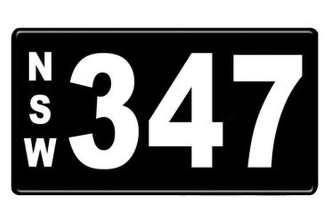 Number Plates - NSW Numerical Number Plates '347'
