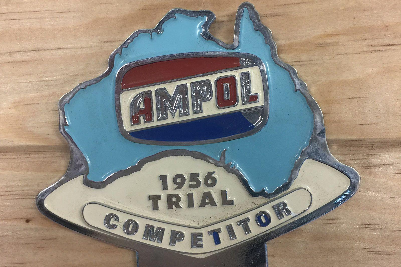 1954 - 1958 Redex Trial Grill badge Board