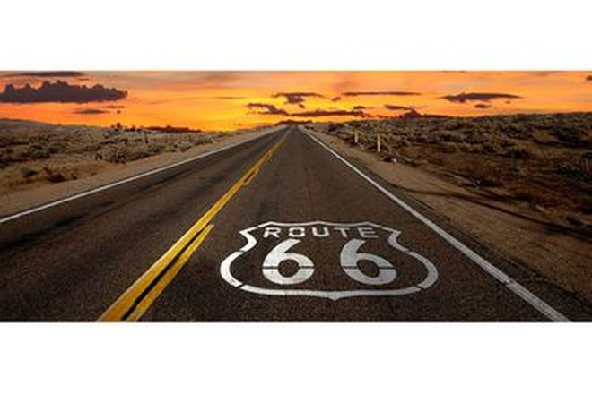 Vinyl poster - Route 66 Sunset