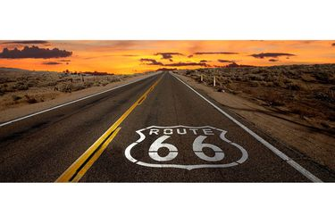 Vinyl poster - Route 66 Sunset