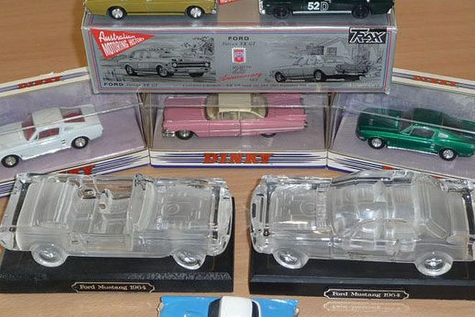 Model Cars x 8 - Crystal Models (Mustang Hardtop & Convertible), Trax 1967 XR GT in box, 2 x 1967 Mu