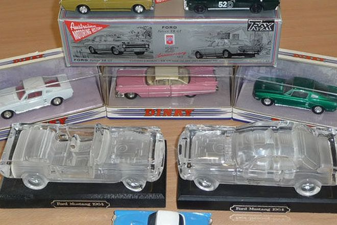 Model Cars x 8 - Crystal Models (Mustang Hardtop & Convertible), Trax 1967 XR GT in box, 2 x 1967 Mu