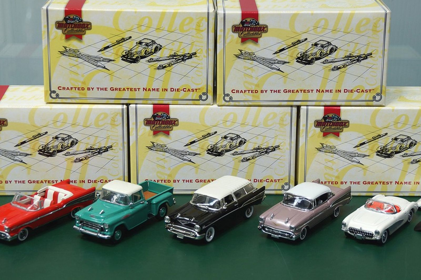 Model Cars - 5 x 1957 Chevrolet's (1:43 Scale)