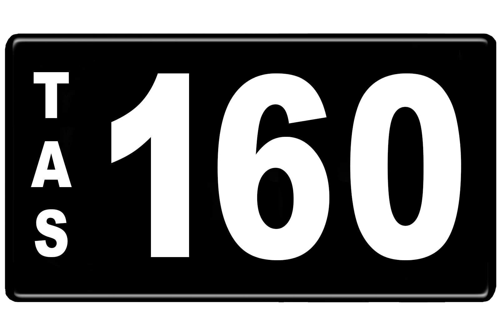 Number Plates - Tasmanian Numerical Number Plates '160'