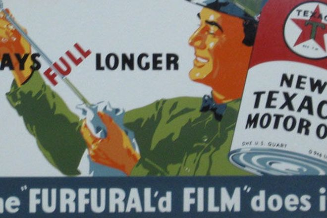 Sign - Texaco Motor Oil (250 x 400mm)