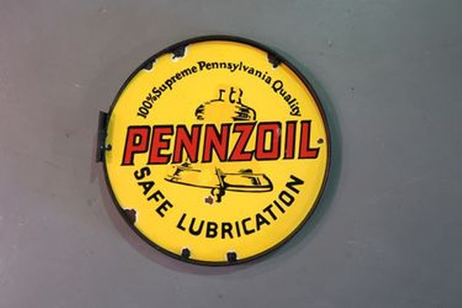 Enamel Sign - Pennzoil (55cm diameter)