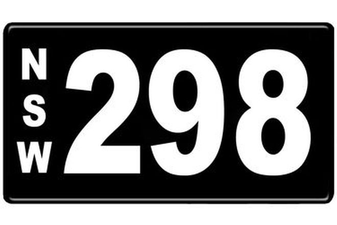 Number Plates - NSW Numerical Number Plates '298'