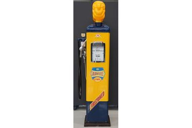 Petrol Pump - Gilbarco CM in Golden Fleece livery with reproduction Ram (Restored)