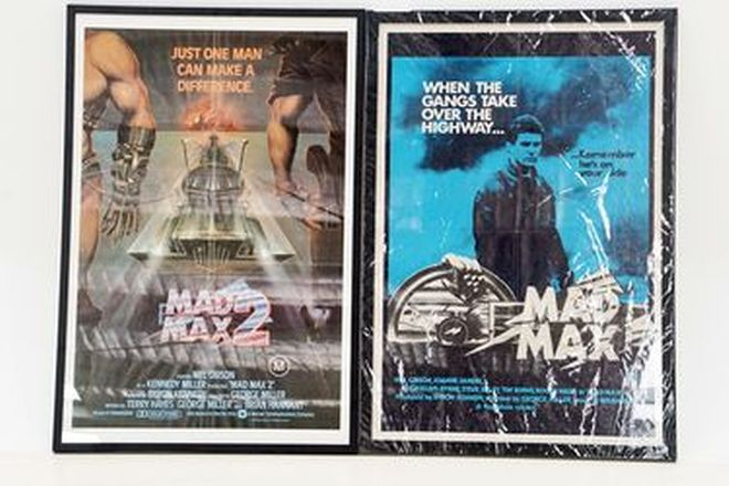 Movie Posters - Framed Mad Max One & Mad Max 2 Movie Posters (107 x 74cm)