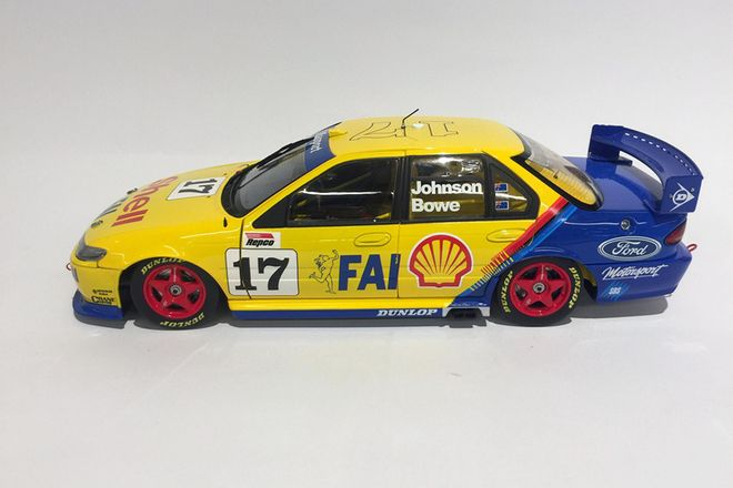 E.F. FALCON RACE CAR   DRIVER - Dick Johnson / Bowe   BRAND -  Apex Replicas   SCALE 1:18