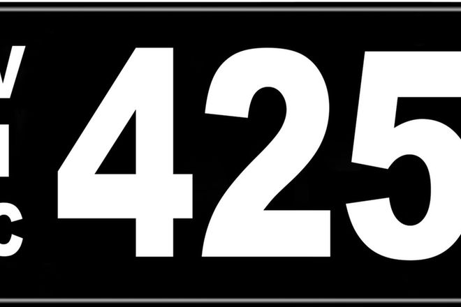 Number Plates - Victorian Numerical Number Plates '425'